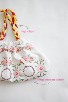 DIY: BRAIDED TABLECLOTH BAG