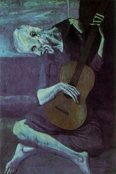 """Pablo Picasso """"The Old Guitarist"""" http://en.wikipedia.org/wiki/Pablo_picasso"""