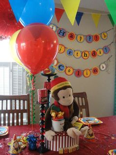 Curious George Birthday Party Ideas | Photo 8 of 26 | Catch My Party