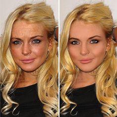18 stars avant/après Photoshop : Lindsay Lohan