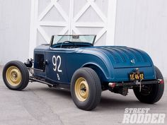 traditional 32 ford roadster..Blue