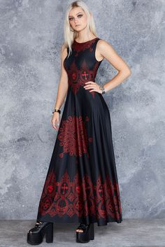 Invocation Princess Maxi Dress ($150AUD) by BlackMilk Clothing
