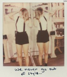 """Adorable """"style"""" Polaroid picture! seriously though, taylor swifts Polaroid pictures are always spot on!"""