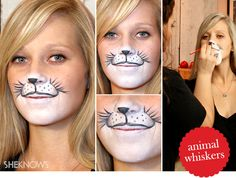 Animal costumes are always popular at Halloween but, whether you've decided to be an adorable bunny or a fierce cat, you need whiskers. Lion Makeup, Animal Makeup, Cat Makeup, Makeup Tips, Fairy Makeup, Mermaid Makeup, Makeup Art, Mermaid Hair, Makeup Ideas