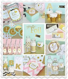 personalized wedding favors - personalized party favors - GOLD OR SILVER foil