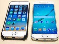 Comparison: the samsung galaxy vs. iphone 6 save money on your next smar Samsung Galaxy S6, Iphone 6 Sale, Radios, Mobile Phone Comparison, Apps, Phone Hacks, Samsung Mobile, Apple Products, Tech Gadgets