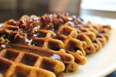 SCD Pumpkin Waffles w/ Butter Pecan Sauce (*Use SCD legal pumpkin...)