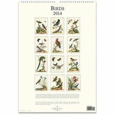 2014 Cavallini Birds Wall Calendar