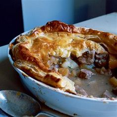 Cornish pie Recipe | delicious. Magazine free recipes  a giant lamb pasty with puff pastry topping