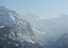 Looking towards Gimmelwald from Wengen, Switzerland Wengen Switzerland, Seize The Days, Luxury Travel, Adventure Travel, Mount Everest, Europe, Mountains, World, The World