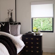 No horsin' around here. . . A classic white shade is the perfect choice for any bedroom! Available in a wide variety of colors and fabrics, our roller shades offer diverse light-filtering options for greater flexibility in light control. Budget Blinds, Custom Shades, Light Filter, Roller Shades, Dresser As Nightstand, Classic White, Flexibility, Fabrics, Bedroom