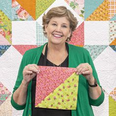 The Carpenter's Star has never been easier thanks to Jenny Doan's simplified version of this classic which uses half-squ Big Block Quilts, Star Quilt Blocks, Star Quilt Patterns, Star Quilts, Easy Quilts, Block Patterns, Missouri Star Quilt Pattern, Missouri Star Quilt Tutorials, Quilting Tutorials