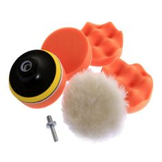 Polishing Buffing Tool Set Grinding Wheel Car Waxing Pad With Drill Adapter for sale online Motorcycle Wedding, Motorcycle Style, Motorcycle Accessories, Buffing Pads, Car Polish, New Motorcycles, Mens Gear, Orange, Car Wash