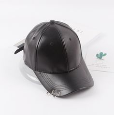 Pierced Ring Leather Cap on Storenvy