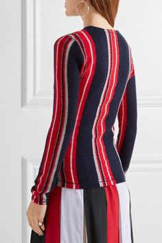 Gabriela Hearst - Lucan Striped Cashmere Sweater - Navy - x small