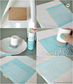 DIY Stenciled Wrapping Paper Tutorial (reusable stencils -- great for fabrics, too), wrapping paper, wrapping, gift wrapping idea, paper, wrapping paper, wrapping present, craft, diy
