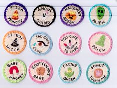 Merit badges - Girls Get Busy  Carousel feminist mini zine fest