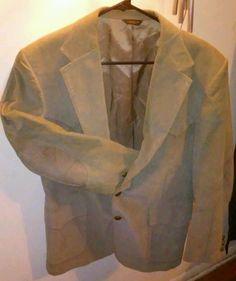 Vtg Levi's Western Menswear Corduroy Elbow Patches Sportcoat Jacket Blazer 40R #LevisMenswear #TwoButton