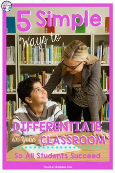 Differentiation is one way to help all of your students to access the content you are teaching. Learn five easy ways to implement differentiation tomorrow. Middle School Ela, Middle School English, Middle School Teachers, Differentiation In The Classroom, Classroom Resources, Classroom Ideas, Upper Elementary, Elementary Schools, Classroom Management