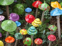 ceramic mushrooms by umelecky, via Flickr