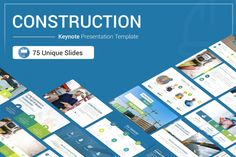Construction Keynote Presentation Template is a Flexible, clean, simple, and unique Keynote Template. All elements easy to edit and you can easily change the color to match it with your personal or company brand, Save your time with 7 Premade...