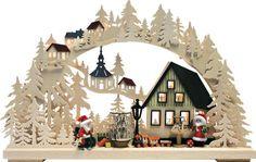 Santas workshop in the woods