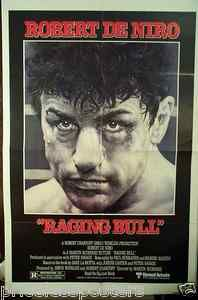 """Raging Bull"" Original Movie Poster 1980 - folded - Robert DeNiro   for sale - check web site"