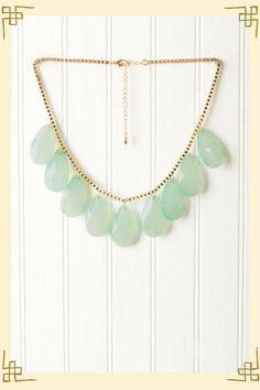 Mint Teardrop Necklace - Francescas