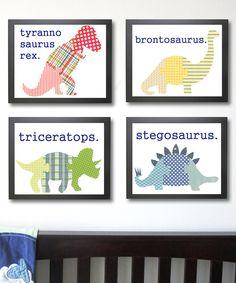 Dinosaur Print Set- super cute set on Zulily now