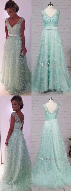 Long Prom Dresses Sparkly,Modest Formal Evening Dresses Green,A-line Military Ball Dresses Elegant,Sexy Wedding Party Dresses V-neck,Tulle Pageant Graduation Dresses Simple Plus Size Formal Dresses, Formal Dresses For Teens, Formal Evening Dresses, Elegant Dresses, Pretty Dresses, Wedding Party Dresses, Prom Dresses, Military Ball Dresses, Graduation Dresses