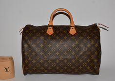Louis Vuitton Monogram Canvas Speedy 40 Brown Satchel. Save 66% on the Louis Vuitton Monogram Canvas Speedy 40 Brown Satchel! This satchel is a top 10 member favorite on Tradesy. See how much you can save