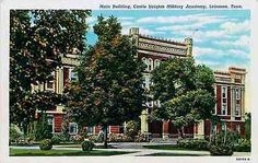 Lebanon Tennessee TN 1940 Main Building Castle Heights Military Academy Postcard