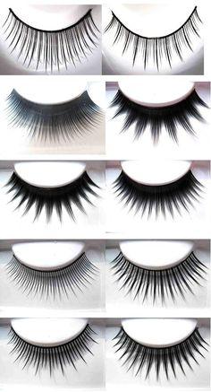 Diferentes estilos y modelos de pestañas postizas...elige el tuyo en www.lashesandgo.com