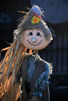 Scarecrow with corn husk hair or some weird hairdo would be interesting Make A Scarecrow, Halloween Scarecrow, Fall Halloween, Halloween Party, Halloween Decorations, Scarecrow Ideas, Scarecrow Crafts, Scarecrow Pictures, Fall Scarecrows