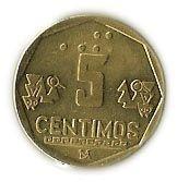 5 Centimos #Perù - 1991-2007 Stemma dello Stato.