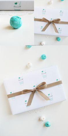 Ghirlanda di Popcorn | progetti creativi: Freebies #13: Green Hot Chocolate Wrapping Paper
