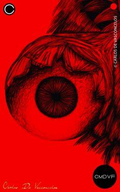 🔴SMBN 0003 - Dibujo Digital.  🔺  #CarlosDeVasconcelos #CMDVF #Ilustración #ArteDigital #Diseño #Arte #Artista #BlancoyNegro #Dibujo / #Illustration #DigitalArt #Design #Art #ArtWork #Artist #BlackAndWhite #bw #bnw #Desenho #Drawing #Ojo #Olho #Eye Dark Art, Otaku, Illustrations, Abstract, Drawings, Artwork, Poster, Pictures, Painting