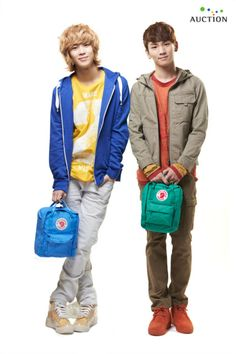 Taemin & Key(both from SHINee).  A commercial image for Korean auciton site @2011