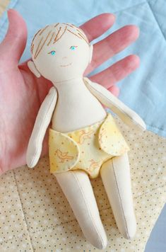 Rag doll, Fabric doll, Pocket baby doll with clothes, Cloth doll with Outfit, Softie, Handmade doll, Handmade toy, DIY doll, Doll pattern