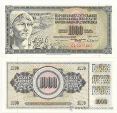YUGOSLAVIA. 1000 dinara