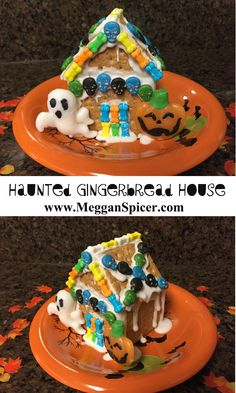 Make spooooky individual Haunted Gingerbread Houses with your little ghosts & goblins this Halloween for just $5!    See these and more frugal fabulous $5 Family Fun ideas at www.MegganSpicer.com, www.facebook.com/megganspicer or on Instagram @megganspicer