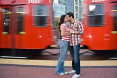 This is one of our favorite engagement pictures in downtown San Diego. Photography by Joel Berti www.joelberti.com