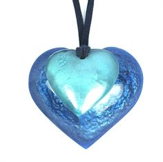 Blue and Turquoise Heart Necklace