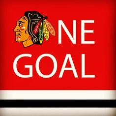 Chicago Blackhawks one goal