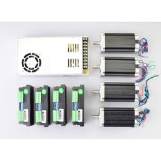 4 Axis 3Nm (425oz.in) Nema 23 Kit Stepper Motor & M542T Driverr Pour routeur CNC
