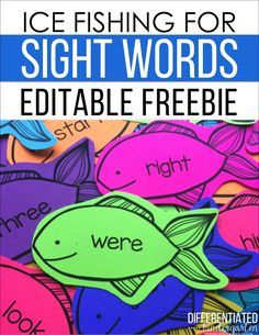 Colorize Your Classroom With Editable Sight Word Fishing Fun! - Differentiated Kindergarten