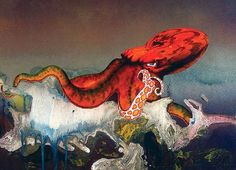 Octopus is an album by British progressive rock band Gentle Giant, released in… Octopus Painting, Roger Dean, Progressive Rock, Fun Shots, Gentle Giant, Rock Bands, Album Covers, Illustrators, The Past