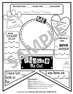 "Your mathematicians will love to see their work become part of your classroom decor! Get your students to realize they are a part of math! ""Figure Me Out"" goes well with ALL ABOUT ME and BACK TO SCHOOL THEMES. This project can be used to decorate your"