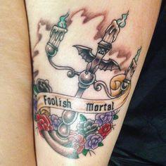 #hauntedmansion #tattoo #candelabra #neverendinghallway #disney #foolishmortal #thightattoo
