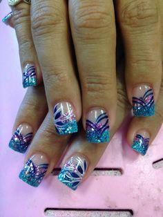 Ideas for french pedicure designs glitter fingers Pedicure Nail Art, Pedicure Designs, Nail Manicure, Toe Nails, Pedicure Colors, Glitter Pedicure, French Pedicure, Pedicure Ideas, Nail Ideas